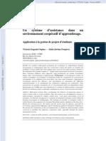 [hal-00572595, v1] Un système d'assistance dans un environnement coopératif d'apprentissage