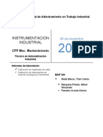 Informes de Instrumentacion Transmisor Web