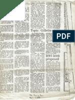 Gillette/Brown murder case discussion, 1984, Norwich (NY) Evening Sun
