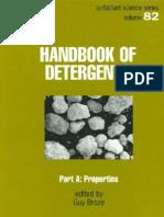 Handbook of Detergents, Part a - Properties
