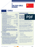 Hiv Prevention Girls and Young Women China Report Card