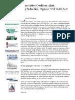 Senate NAT GAS Coalition Letter