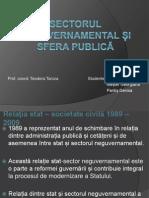 Sectorul  neguvernamental și sfera publică