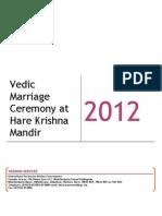 Vedding Marriage Ceremony at Bhaktivedanta Manor - 2012