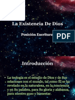 Existencia de Dios (Posición Escritural)