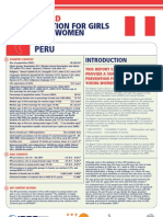 Hiv Prevention Girls and Young Women Peru Report Card