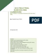 Framework For Pisa 2012 Problem Solving