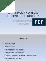 OPTIMIZACIÓN VÍA REDES NEURONALES RECURRENTES2