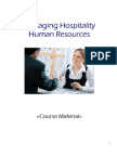 Managing Hospitality Human Resources