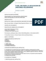 Instructivo del SRI para la aplicación de sanciones