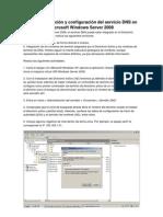 EP3.1.- Instalación y configuración del servicio DNS en Microsoft Windows Server 2008