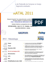 Relatório de intenção de Consumo. Natal 2011 - Goiânia