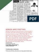BCSNETsongsand Fasting
