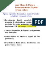 Investimento E Orçamento de Capital I 2011.2