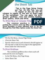 5-4 Using the Sheet Tab