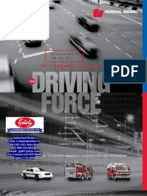 Federal Signal Catalog- 2011 | Light Emitting Diode | Motor ... on
