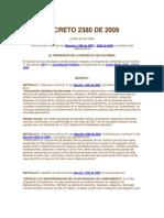 DECRETO 2380 DE 2009