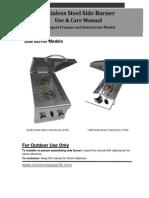 SUNSTONE Side Burners Manual