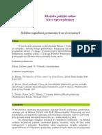 Sylabus Filozofia Polityki Online