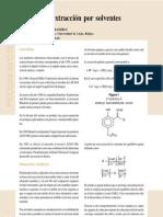 Tópicos de extracción por solventes