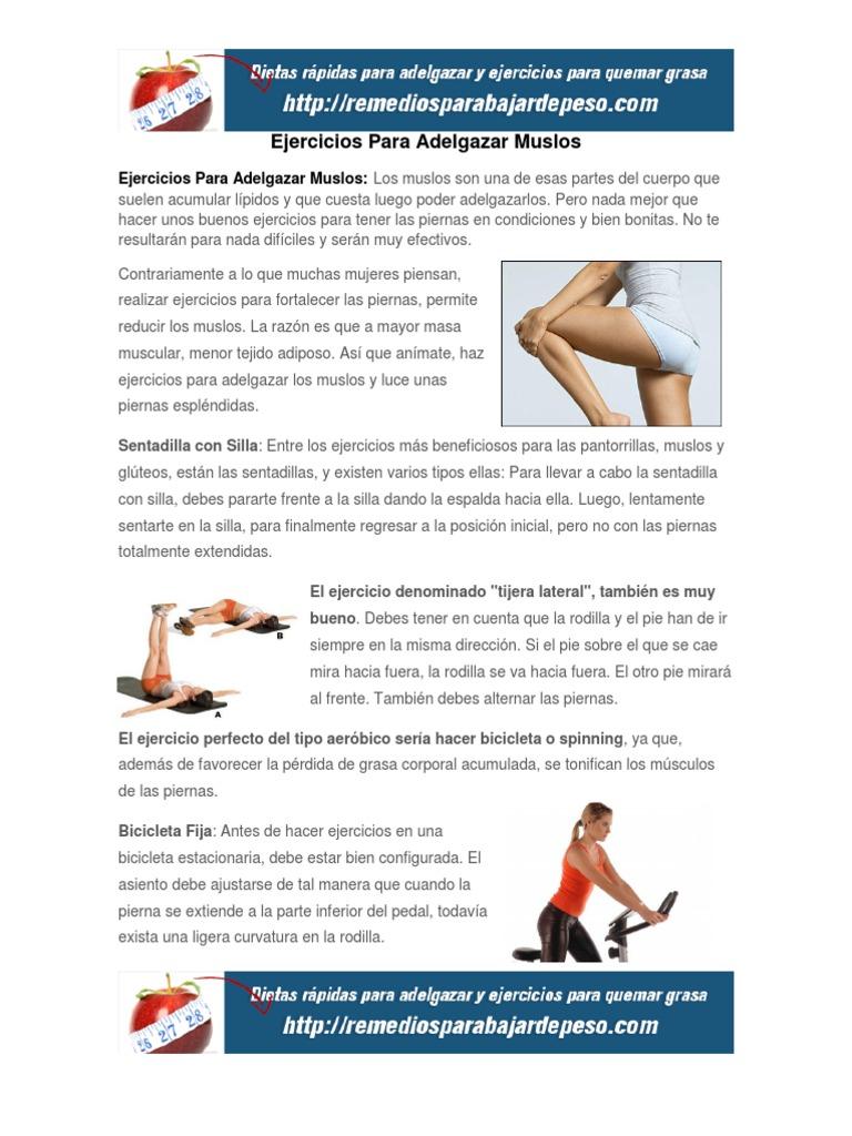 adelgazar muslos y piernas
