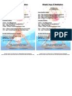 ISKCON Birmingham Bhakti Yoga & Meditation Leaflet