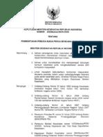 KMK No. 406 Ttg Pembentukan Pemuda Siaga Peduli Bencana (DASI PENA)