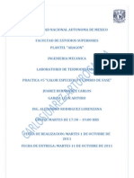 """Reporte de la Practica #5 """"Calor Especifico y Cambio de Fase"""""""
