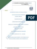 """Reporte de la Practica #6 """"Conservacion de la Masa y la Energia"""""""