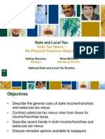 State Tax Nexus- No Physical Presence Required