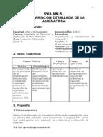 Programación y Herramientas de Integración II SYLLABUS B-2011