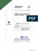 NTC 5454 (2006) - Infraestructura de Las Term in Ales de Transporte Terrestre Automotor de Pasajeros Por Carretera