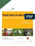 Children & Nature Network Family Bonding Toolkit Pilot