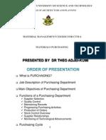 Materials Management PURCHASING