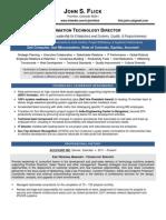Director Software Applications Development in NC Resume John Flick