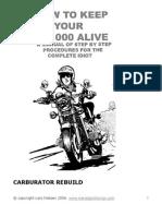 carburator rebuild
