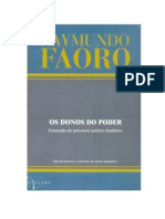 Raymundo Faoro - Os Donos Do Poder