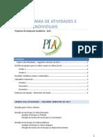 PIA - Cronograma de Atividades