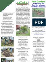 South Carolina; Rain Garden Brochure