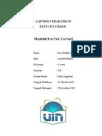 laporan praktikum ekologi dasar makrofauna tanah