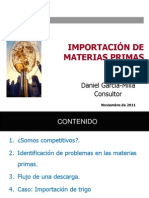 Daniel Garcia Milla - Importacion de Graneles