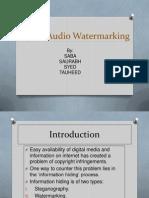 DIGITAL AUDIO WATERMARKING