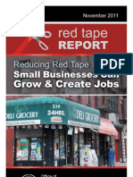 Reducing Red Tape So Our Small Businesses Can Grow & Create Jobs
