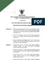 KMK No. 1165 Ttg Pola Tarif Rumah Sakit Badan Layanan Umum