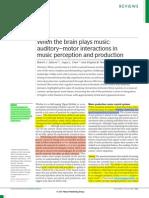 When the Brain Plays Music Zatorre Chen & Penhune 2007 SUB