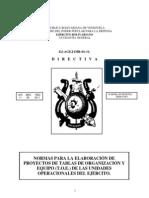 Directiva Normas Para Elaboracion Proyectos