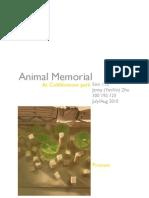Animal Memorial, Landscape Design Assignment-Process