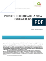 Proyecto de Lectura de La Zona 025 Mateo01