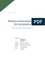 Modelos Determinísticos de Inventarios