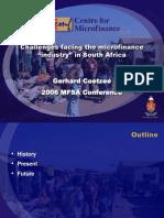 20060505 Micro Finance Challenges Presentation - Coetzee
